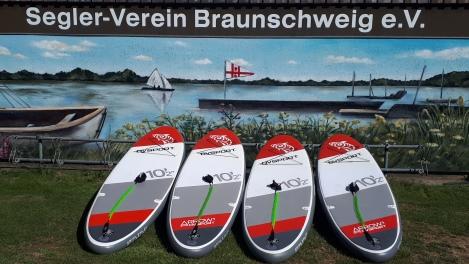 Stand-Up-Paddles (SUP) auf dem Südsee